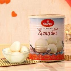 Mind-Blowing Heart of Love 1kg Rosogolla from Haldiram