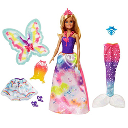 Delightful 3-in-1 Barbie Doll Set in Rainbow Theme from Mattel for Toddlers