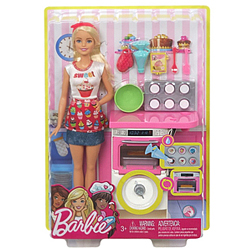 Fancy Playset of Barbie Doll Bakery Chef