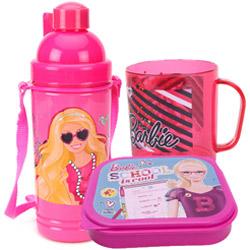 Smart Looking Lunch Time Barbie Designed Tiffin Set