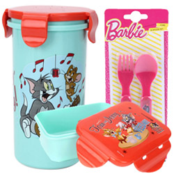 Wonderful Tom and Jerry Pattern Tiffin Set for Lovely Kids