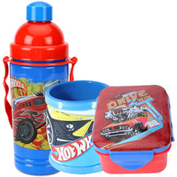Exotic Hot Wheels Pattern Tiffin Set for Lovely Kids