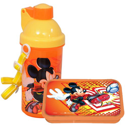 Beautiful Mickey Pattern Tiffin Set for Lovely Kids