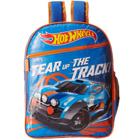 Stylish Hot Wheels Blue N Orange School Bag