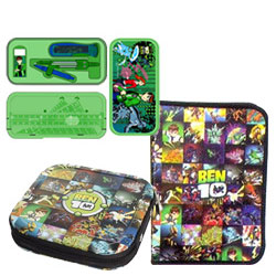 Online Ben 10 CD Cover, Geometry Box and Zipper File