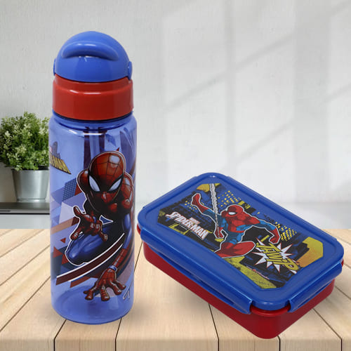 Wonderful Marvel Spiderman Tiffin N Sipper Bottle Set