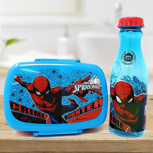 Exclusive Spiderman Canteen Set of Water Bottle n Tiffin