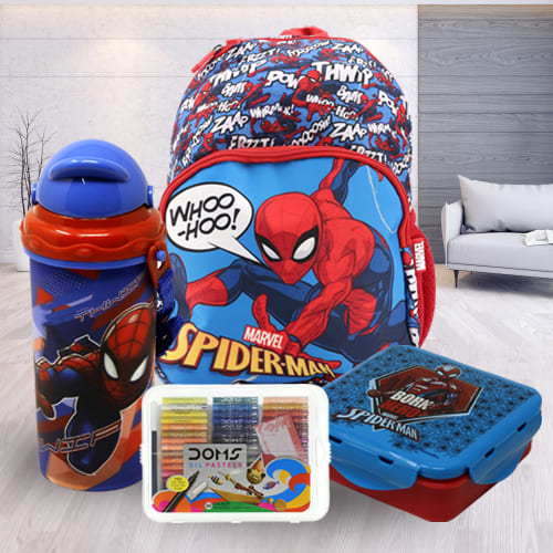 Exciting Spiderman School Utility Combo