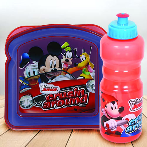 Exclusive Disney Mickey Mouse Sipper Bottle n Lunch Box