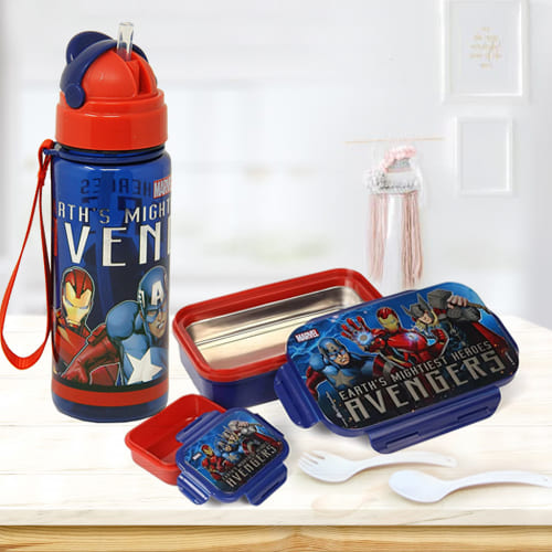 Exclusive Marvel Lunch Box n Sipper Bottle Combo