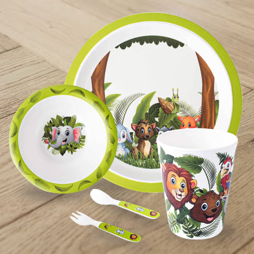 Amusing Jungle Book Design Melamine Kids Set