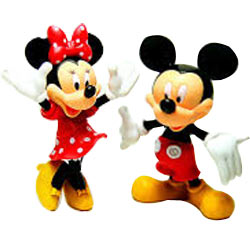 Lovely Gift of Mickey Mouse N Minnie Mouse Action Figures for Young Ones
