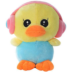 Splendid Duck with an Earphone