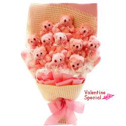 Cute Gift of Teddy Bouquet