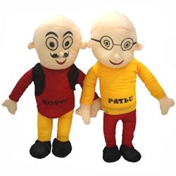 Adorable Motu Patlu Soft Toy Set