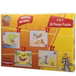 First-Rate Funskool Tom and Jerry 4 in 1 Puzzle
