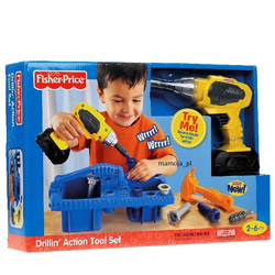 Remarkable Fisher-Price Drillin' Action Tool Set