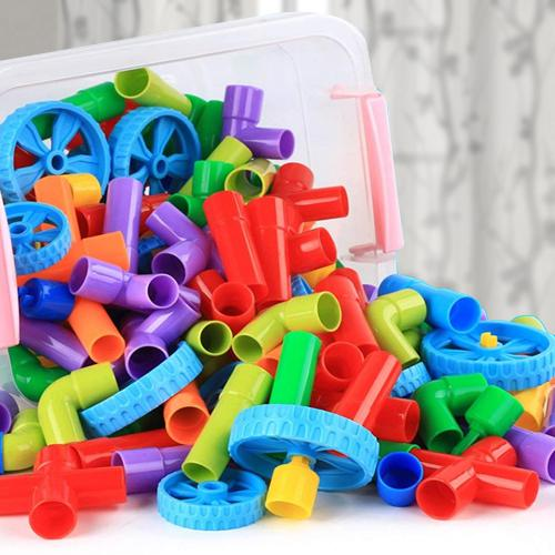 Exciting Building Block Pipes Puzzle Set