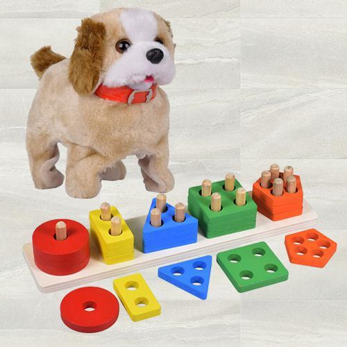 Remarkable Five Column Blocks N Back Flip Jumping Dog<br>