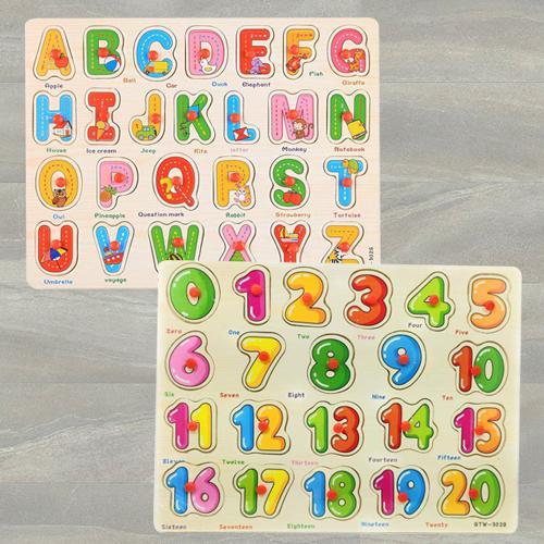 Marvelous Set of 2 Wooden Learning Board for Kids