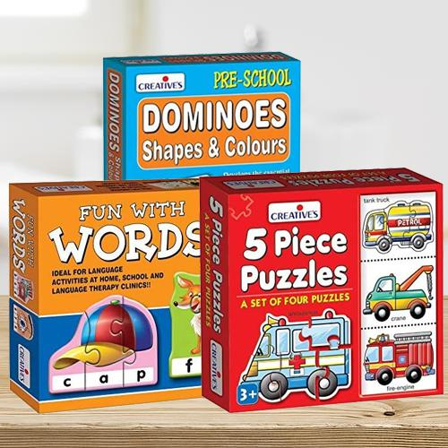 Marvelous Triple Learning Puzzle Set for Kids