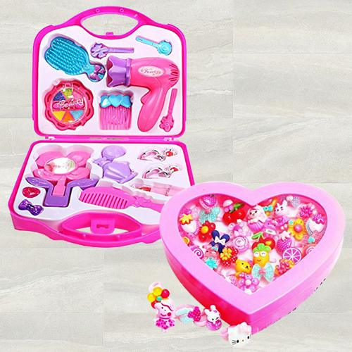 Exclusive Beauty Set N Fancy Finger Rings Box for Girls