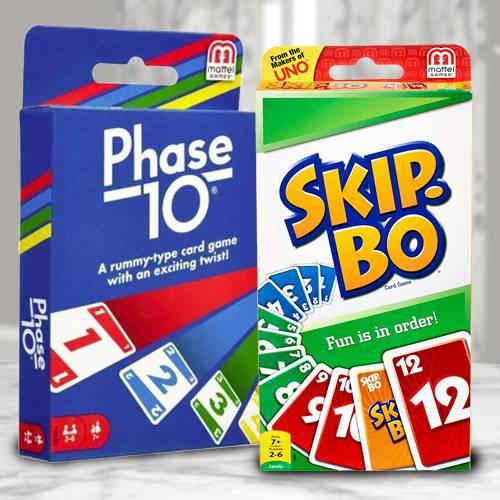 Marvelous Mattel Skip Bo N Phase 10 Card Game