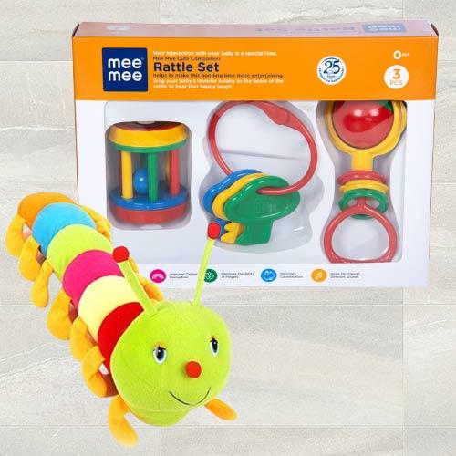 Marvelous Luvlap Fish Teether Rattles N Caterpillar Soft Toy