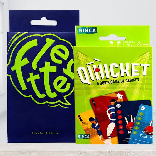Marvelous Binca Qwicket Cricket N Fletter Card Game