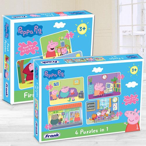 Marvelous Frank Peppa Pig Puzzle Set