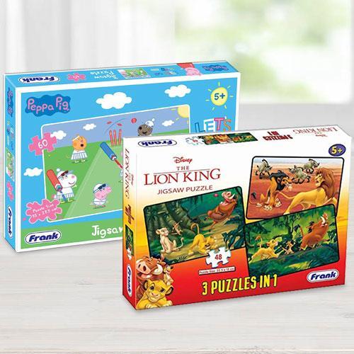 Marvelous Frank Disney The Lion King N Peppa Pig Puzzles Set