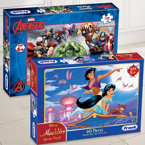 Amazing Frank Marvel Avengers N Disney Aladdin Puzzle Set