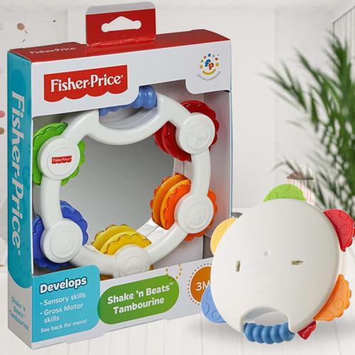 Wonderful Fisher-Price Shake n Beat Tambourine Baby Rattle Toy