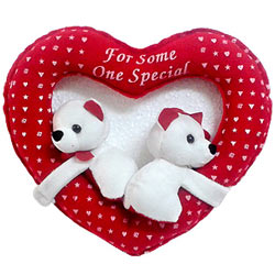 Amazing Two Teddy Bears in Heart