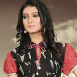 Send Fantastic Black Printed Georgette Tunic to Kerala
