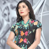Send Fabulous Black And Aqua Green Designer Cotton Tunic to Kerala
