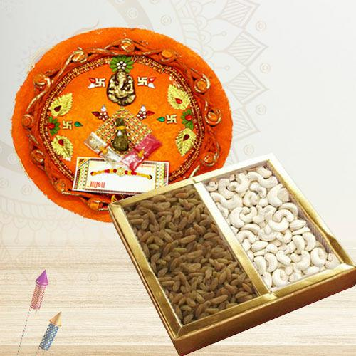 Exclusive Designer Thali with Assorted Dry Fruits