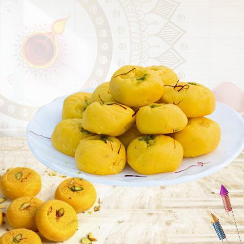 Tasty Kesaria Peda for Pooja