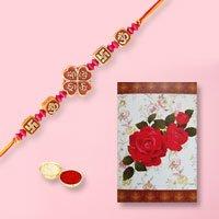 Unique Rakhi with Rakhi Card