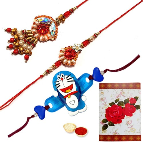 Wonderful Bhaiya, Bhabhi and Kids Rakhi
