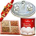 Fascinating Rakhi Thali with 1 or More Om Rakhi and Gift<br>