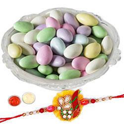 Rakhi With Sugar Coated Almonds