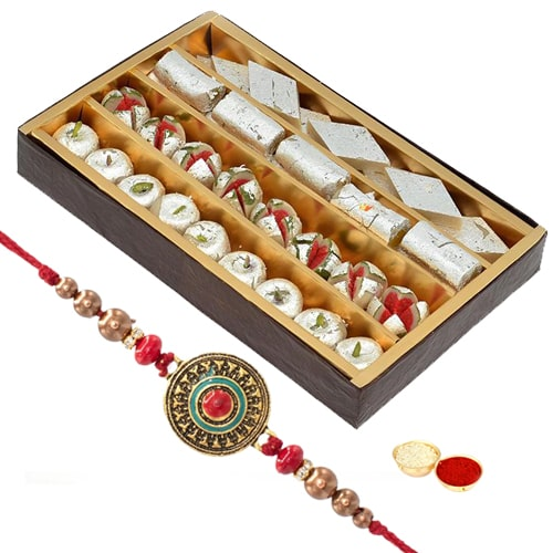 Rakhi with Assorted Sweets