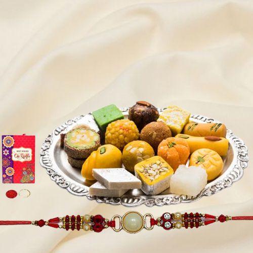 Rakhi with Assorted Sweets