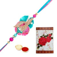 Classic Rakhi with Rakhi Card for your Loving Brother