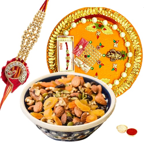 Delightful Rakhi Thali Assemblage