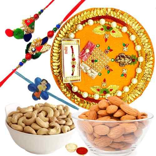 Auspicious Arrangement Rakhi Thali Gift Set