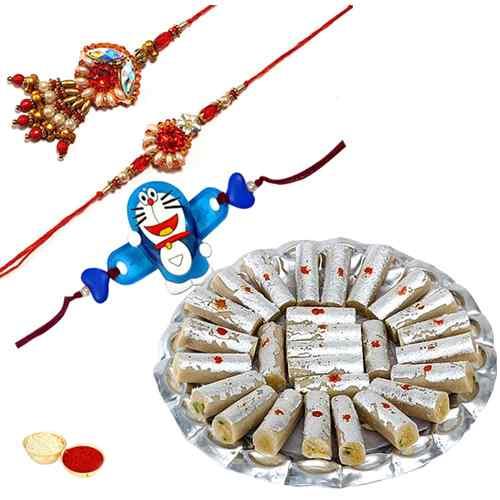 Gorgeous Family Rakhi Gift Set