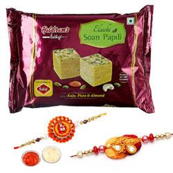 Sinful Soan Papdi and Rakhi Gift Combo
