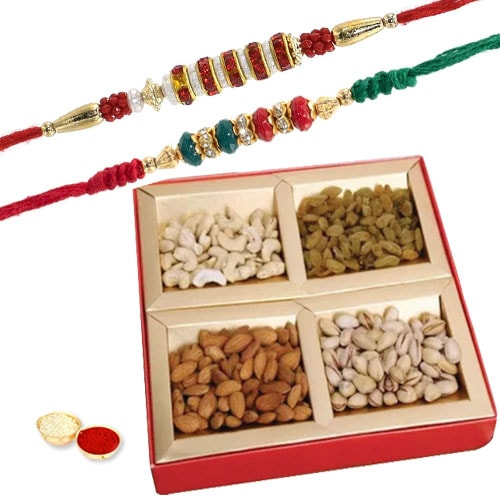 Heartfelt Duple Rakhi Gift Set
